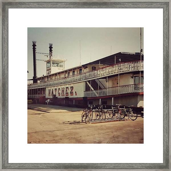 Ss Natchez, New Orleans, October 1993 Framed Print