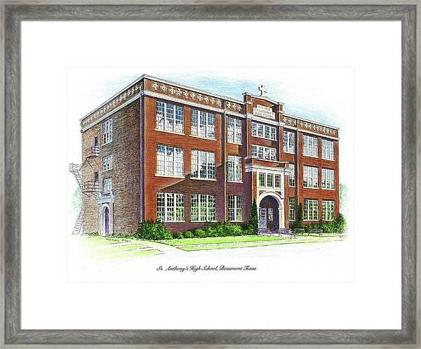 St. Anthony's High School Framed Print