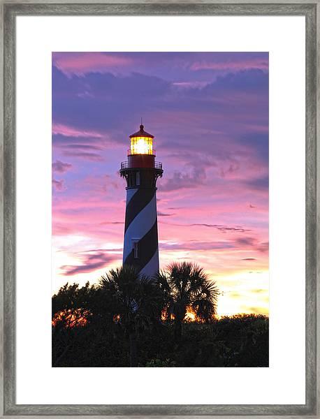 St. Augustine Light Framed Print