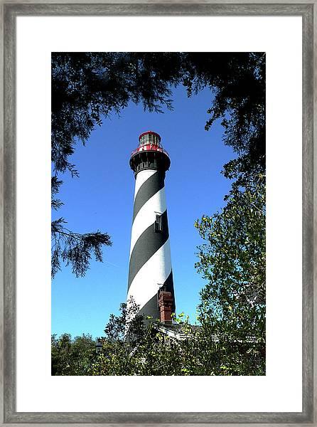 St. Augustine Light Tower Framed Print