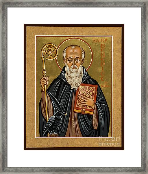 St. Benedict Of Nursia - Jcbnn Framed Print