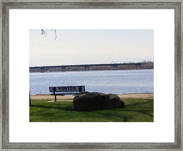 St Croix River Framed Print