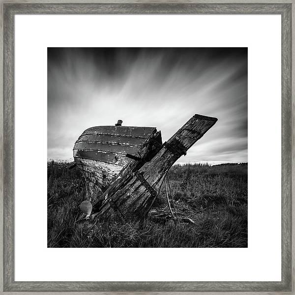St Cyrus Wreck Framed Print