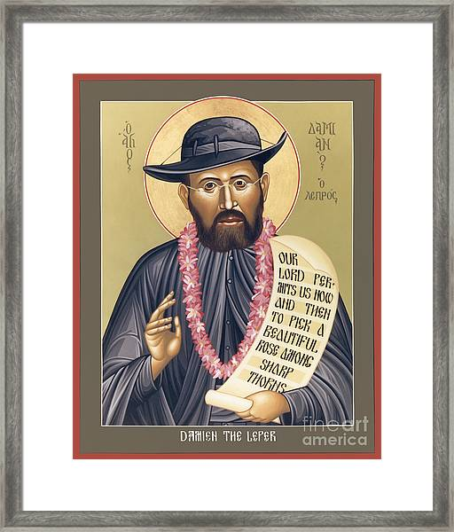 St. Damien The Leper - Rldtl Framed Print