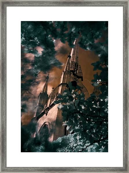 St Dunstan In The East Tower Framed Print