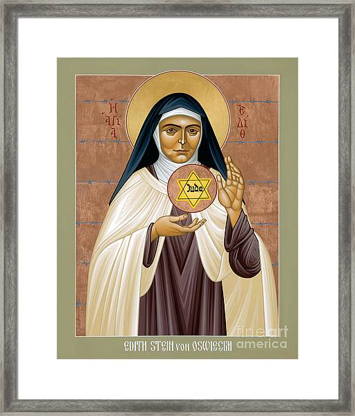 St. Edith Stein Of Auschwitz - Rleds Framed Print