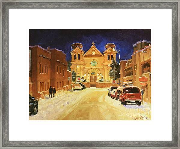 St. Francis Cathedral Basilica  Framed Print