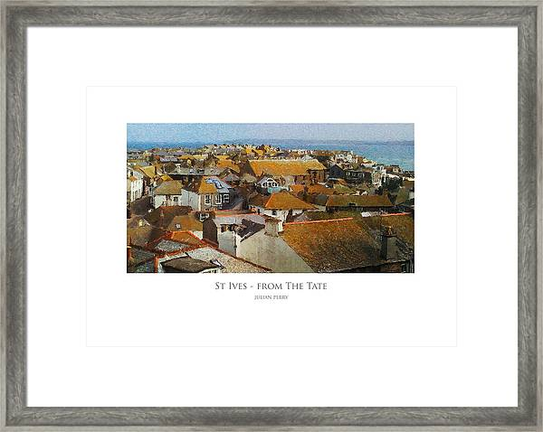 St Ives - From The Tate Framed Print