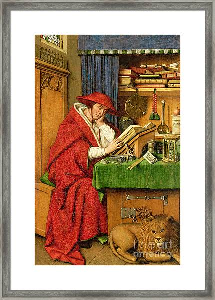 St. Jerome In His Study  Framed Print