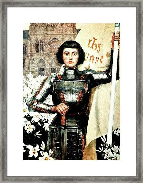 St Joan Of Arc - Jeanne D'arca Framed Print
