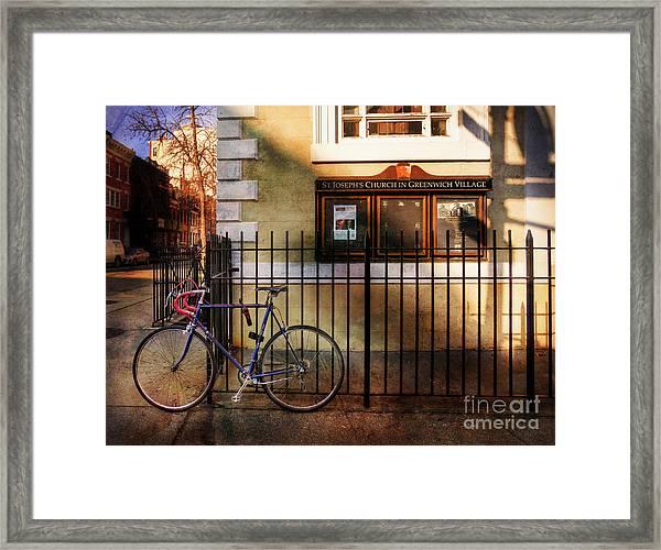St. Joseph's Church Bicycle Framed Print