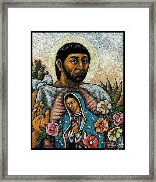 St. Juan Diego And The Virgins Image - Jljdv Framed Print