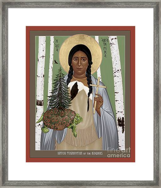 St. Kateri Tekakwitha Of The Iroquois - Rlktk Framed Print
