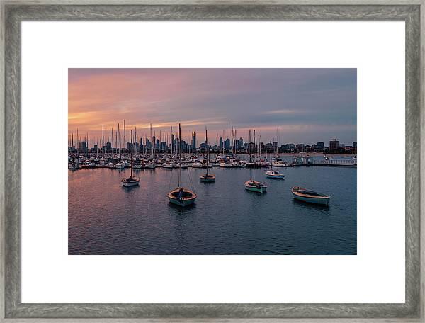 St. Kilda Breakwater Framed Print