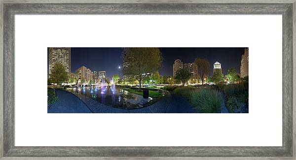 St. Louis City Garden Panorama Framed Print