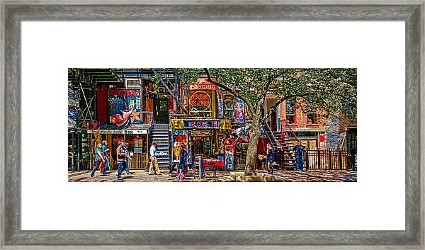 St Marks Place Framed Print