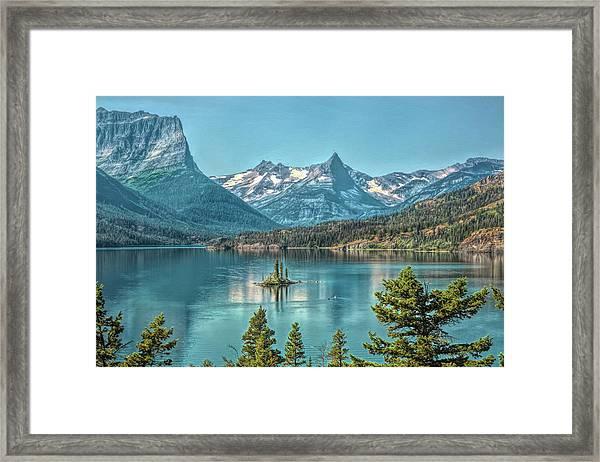 St Mary Lake Framed Print