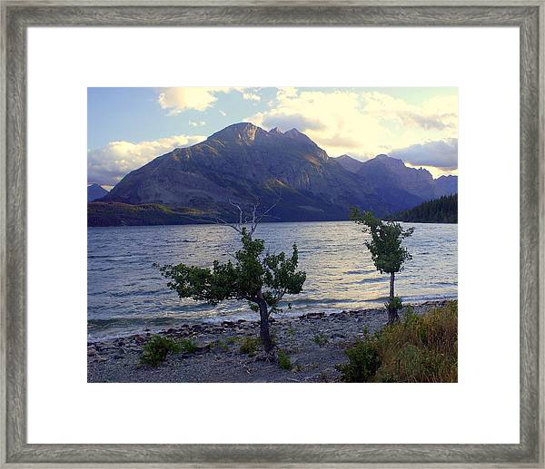 St. Mary Lake Framed Print