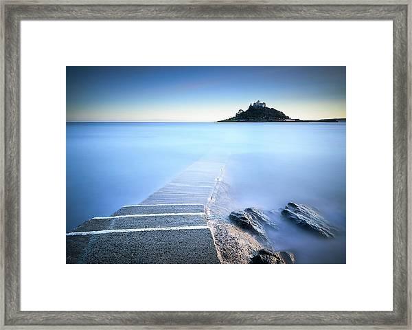 St Michael's Mount Sunset Framed Print