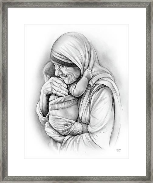 St Mother Teresa Framed Print