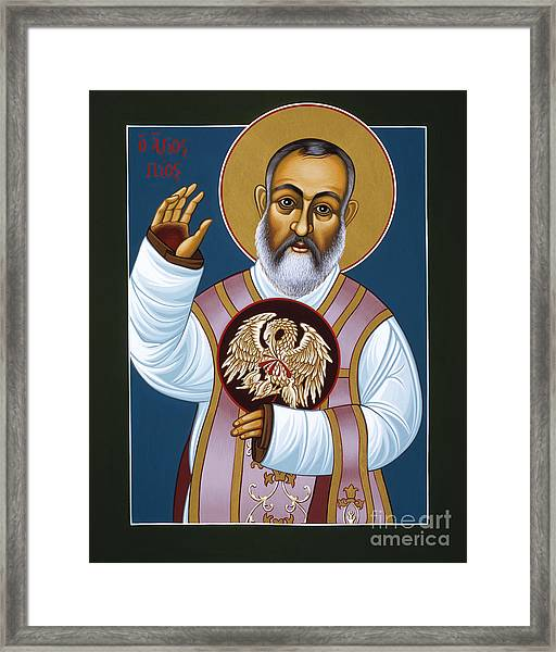 St Padre Pio Mother Pelican 047 Framed Print