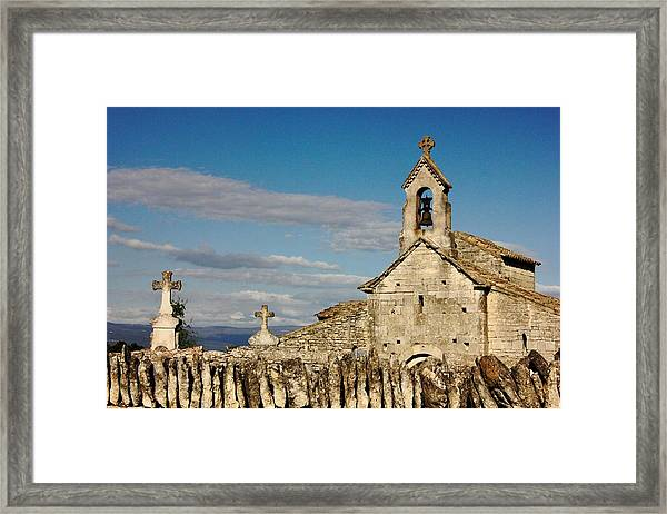St. Pantaleon Church,  Luberon, France Framed Print