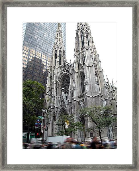 St Patrick's Cathedral - Manhattan Framed Print