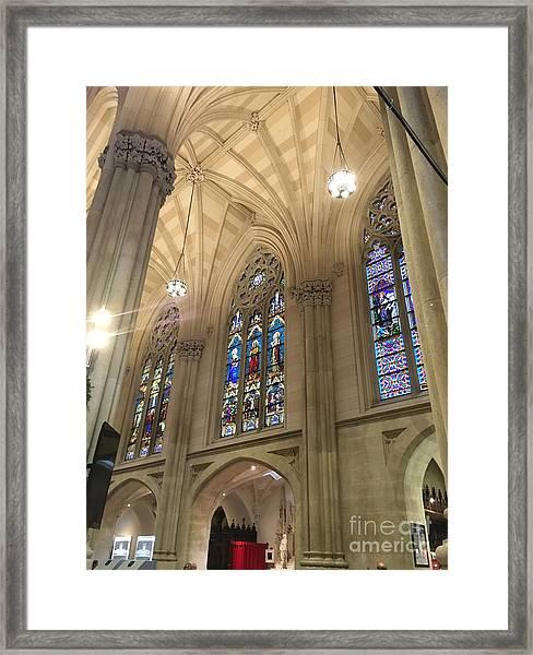 St. Patricks Cathedral Interior Framed Print