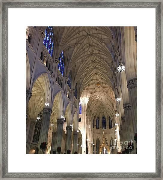 St. Patricks Cathedral Main Interior Framed Print