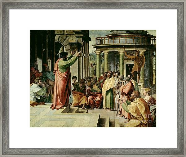 St. Paul Preaching At Athens  Framed Print