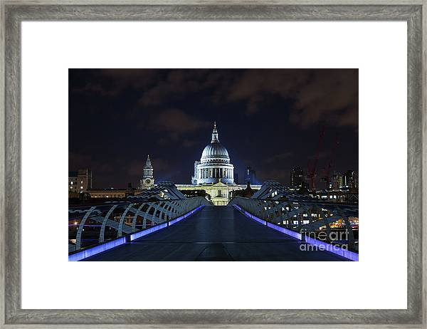 St Paul's Cathedral And The Millennium Bridge Framed Print