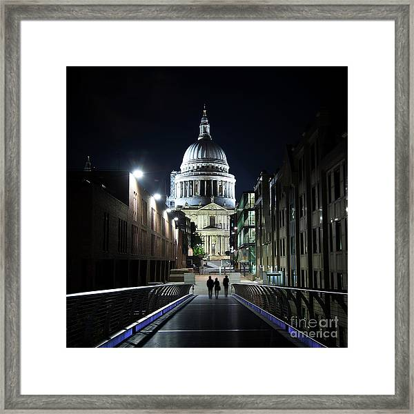 St Paul's Cathedral At Night Framed Print