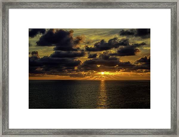 St. Pete Sunset Framed Print