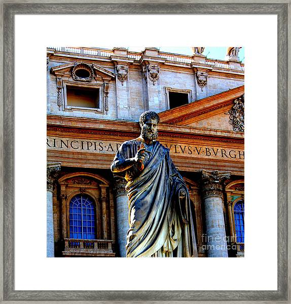 St Peter At The Vatican Framed Print