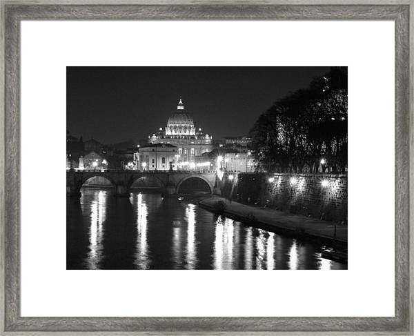 St. Peters At Night Framed Print