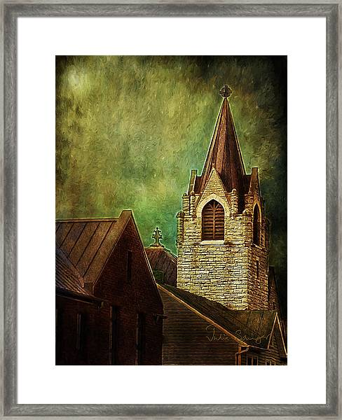 St Peter's By Night Framed Print