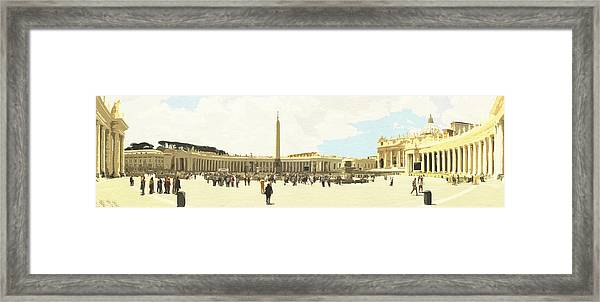 St. Peter's Square The Vatican Framed Print