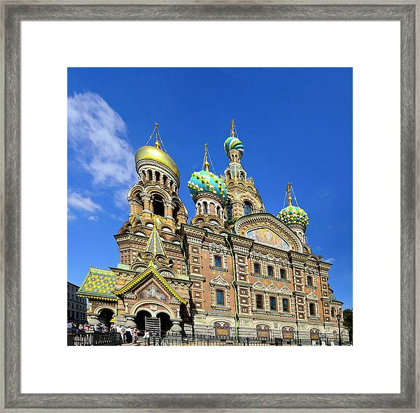 St. Petersburg Church Of The Spilt Blood Framed Print