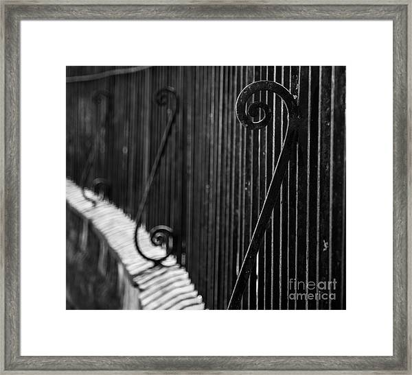 St. Philip's Episcopal Church Cemetery Iron Fence Framed Print