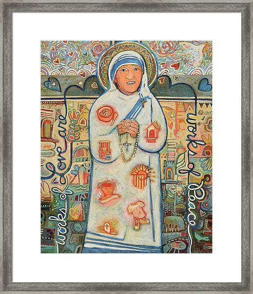 St. Teresa Of Kolkata Framed Print