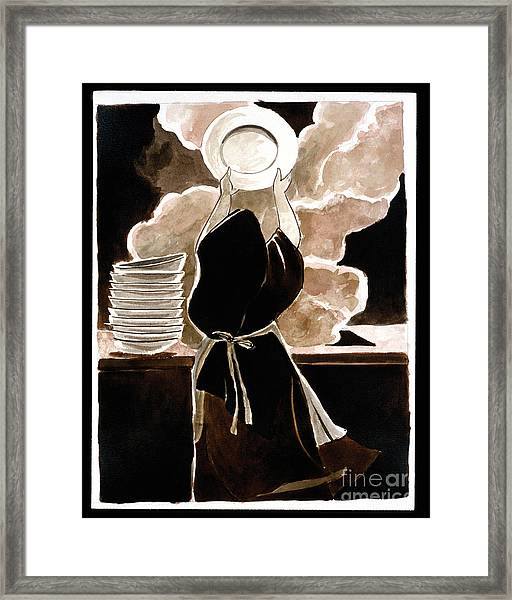 St. Therese Doing The Dishes - Mmdtd Framed Print