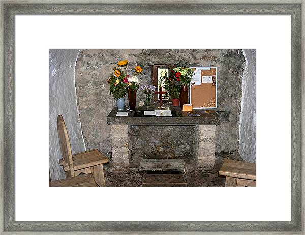St. Trillo's Chapel - North Wales - Interior Framed Print
