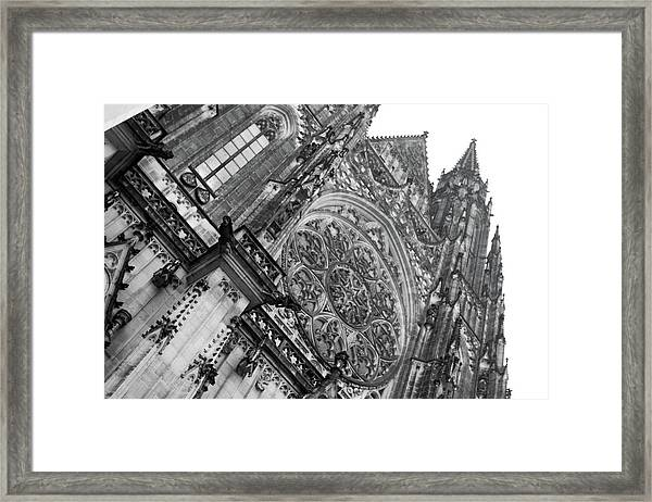 Framed Print featuring the photograph St. Vitus Cathedral 1 by Matthew Wolf