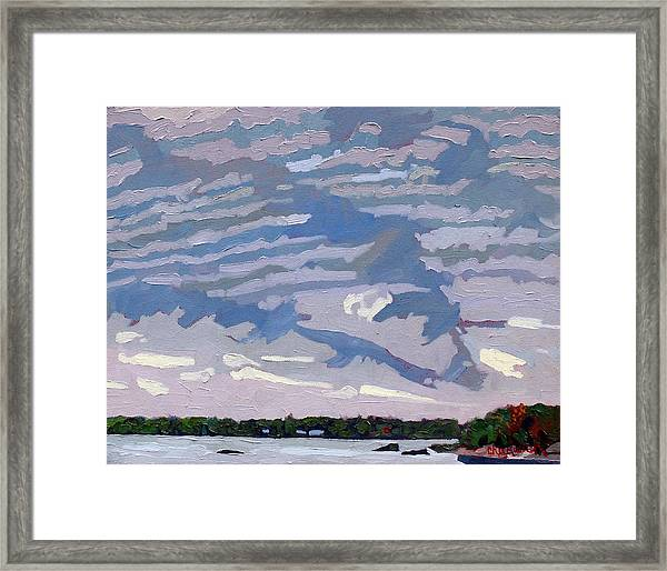 Stable Layer Framed Print