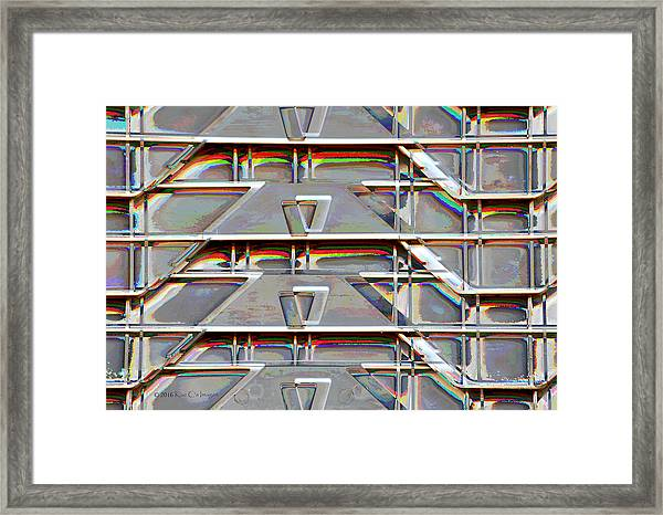 Stacked Storage Crates Abstract Framed Print
