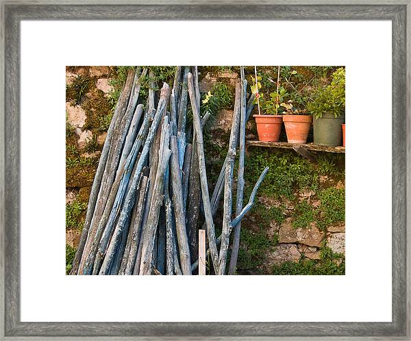 Stacked Wood Framed Print