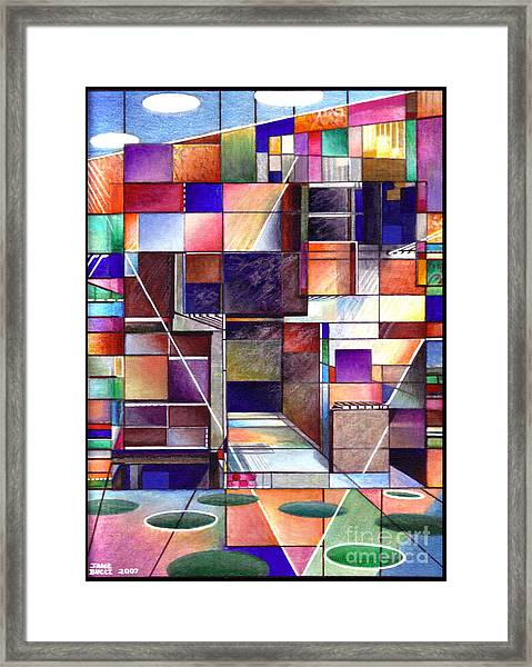 Stained Glass Factory Framed Print