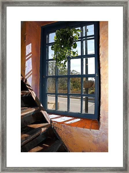 Stair Lit Framed Print