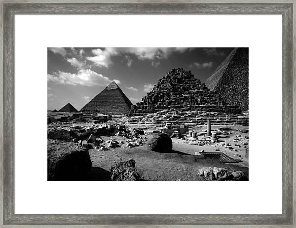 Stair Stepped Pyramids Framed Print
