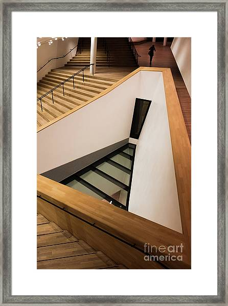 Staircase In Elbphiharmonic Framed Print